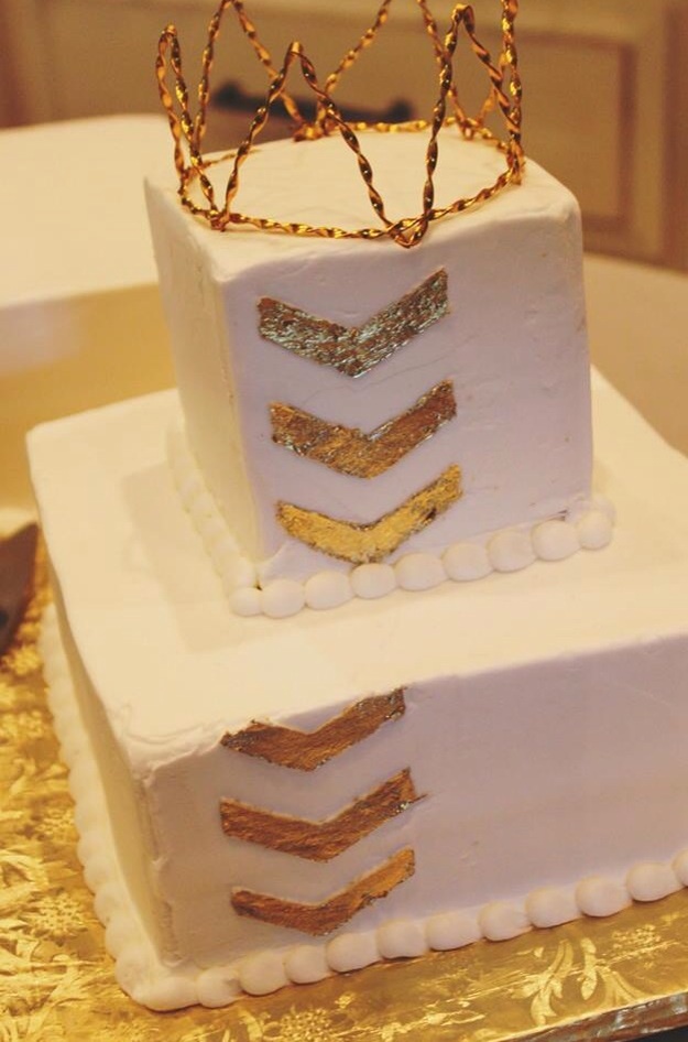 Birthday Cake with Gold Crown - Project Nursery