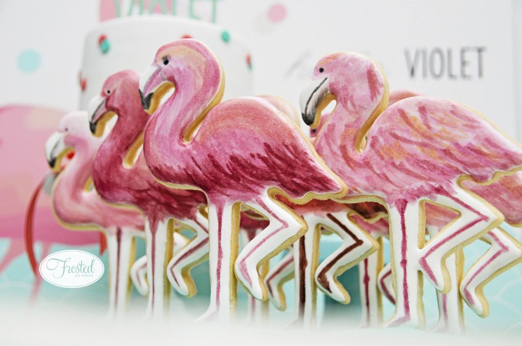 Flamingo Sugar Cookies