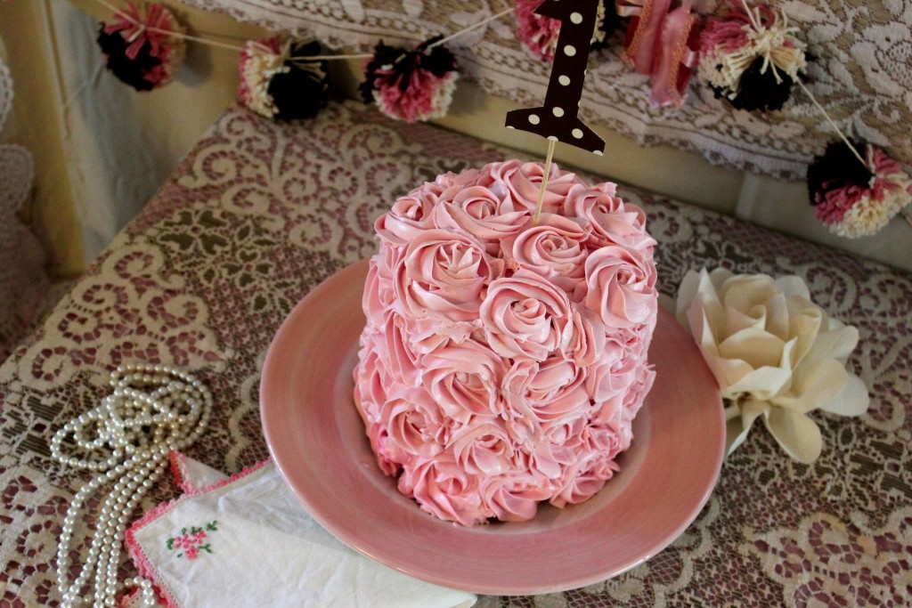 Rose Frosted Cake