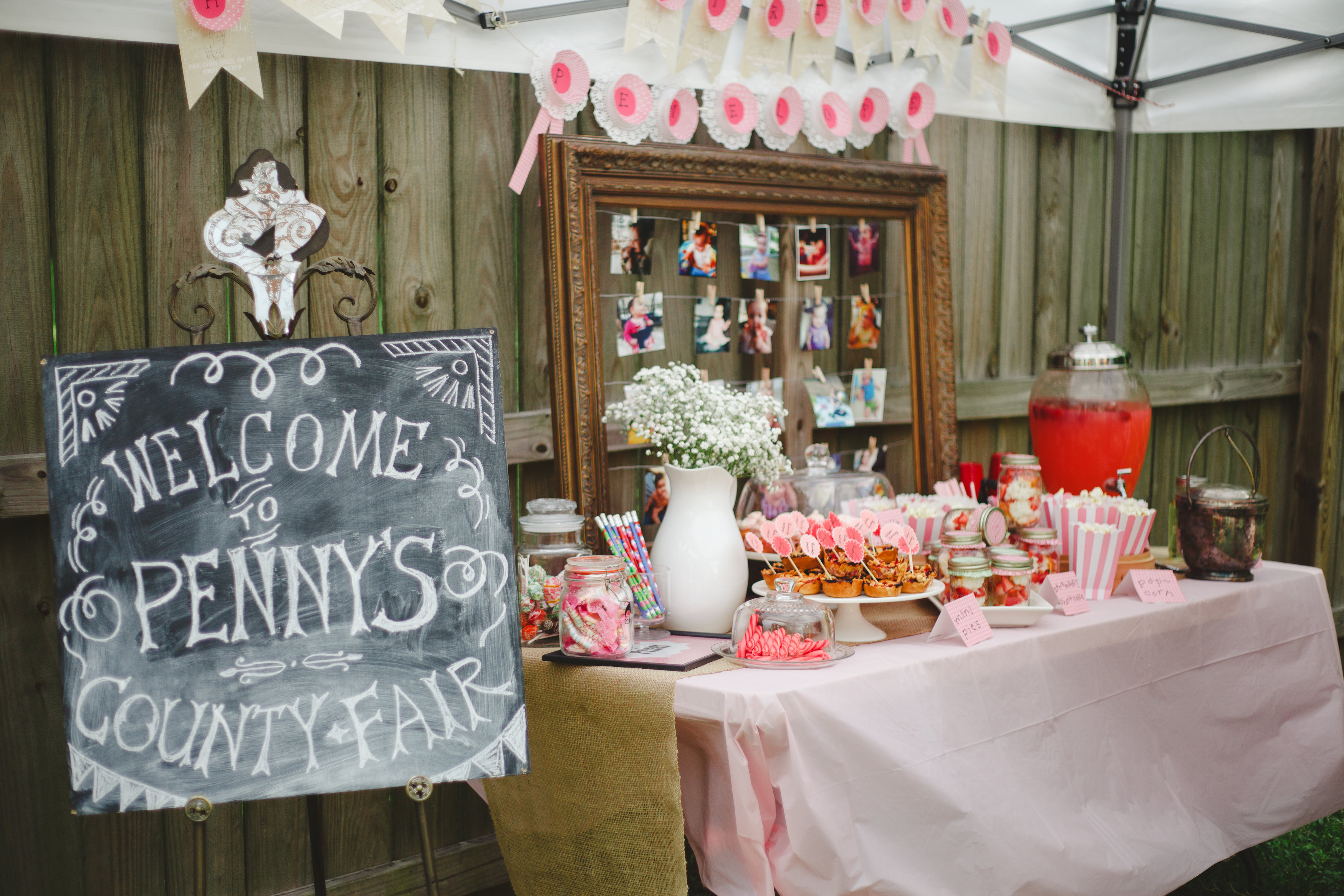Vintage County Fair 1st Birthday Party