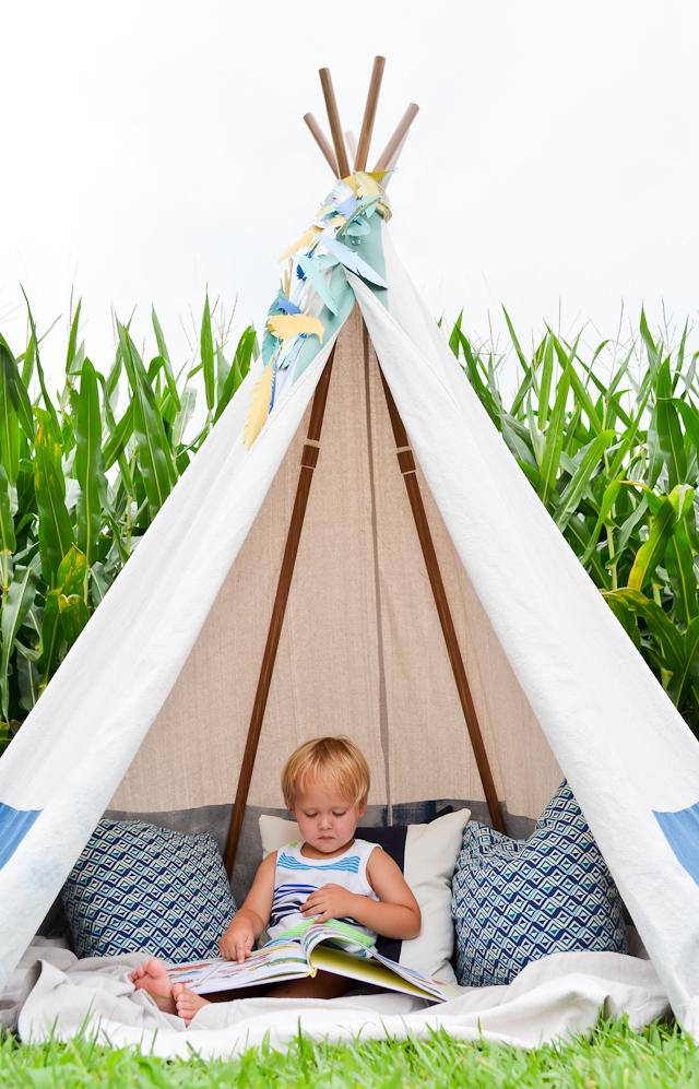 online retailer c5f69 09a6d DIY: No-Sew Teepee - Project Nursery