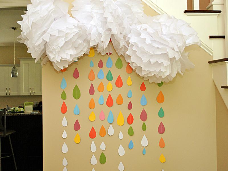 Rainbow Raindrop Sprinkle Wall