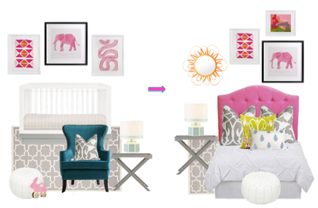 Girl Transition Room Style Board from Decorist