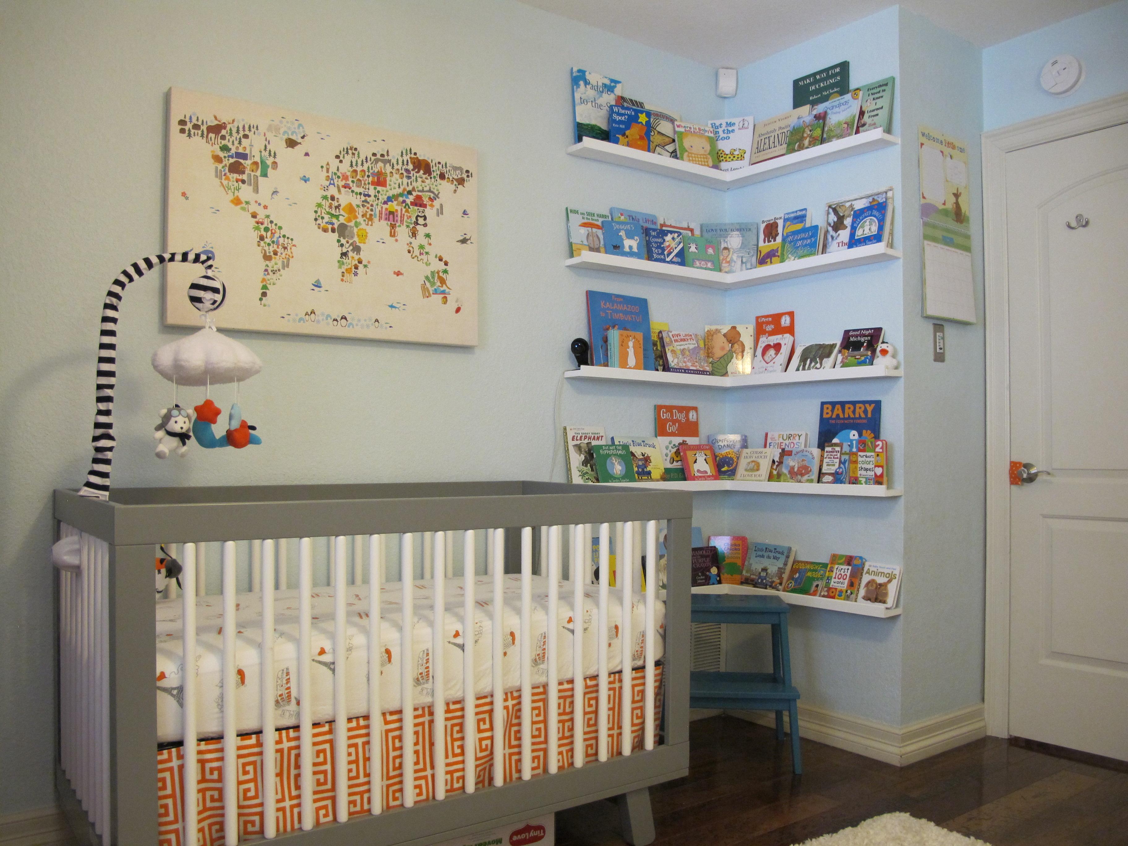 Orange, Gray & Turquoise Wanderlust Nursery