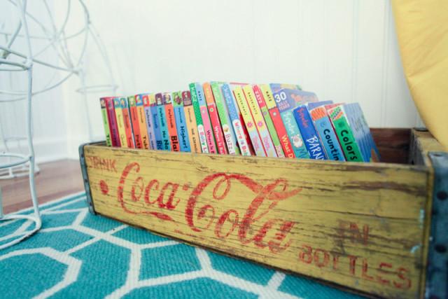 Vintage Crate Book Storage - Project Nursery