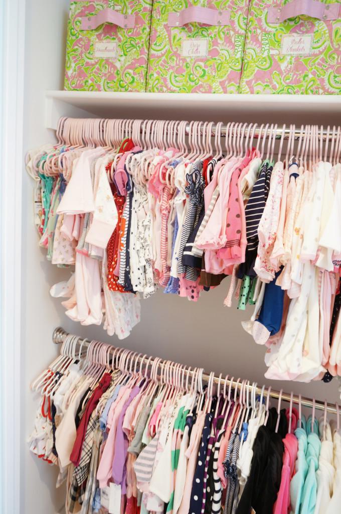 Twin Girls Baby Nursery Closet