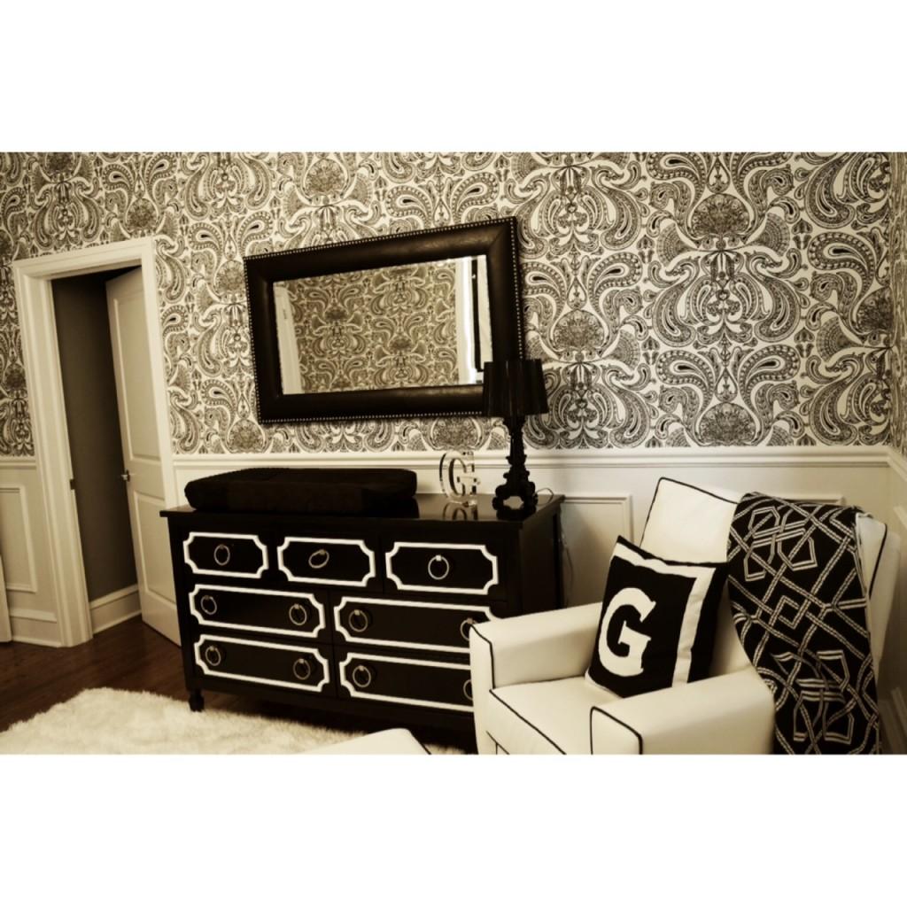 Black and White Modern Nursery Furniture