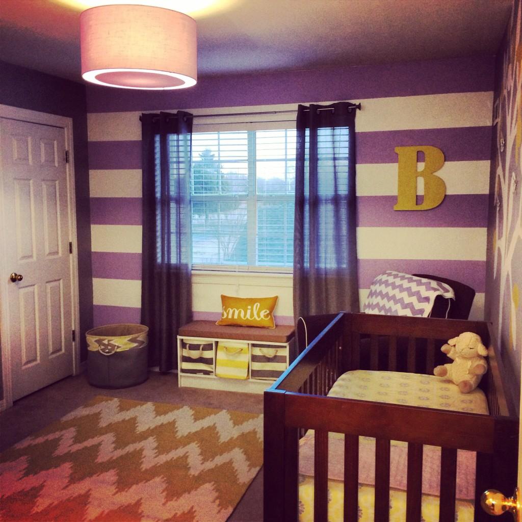 Blake Aubrey S Purple Grey And Yellow Nursery