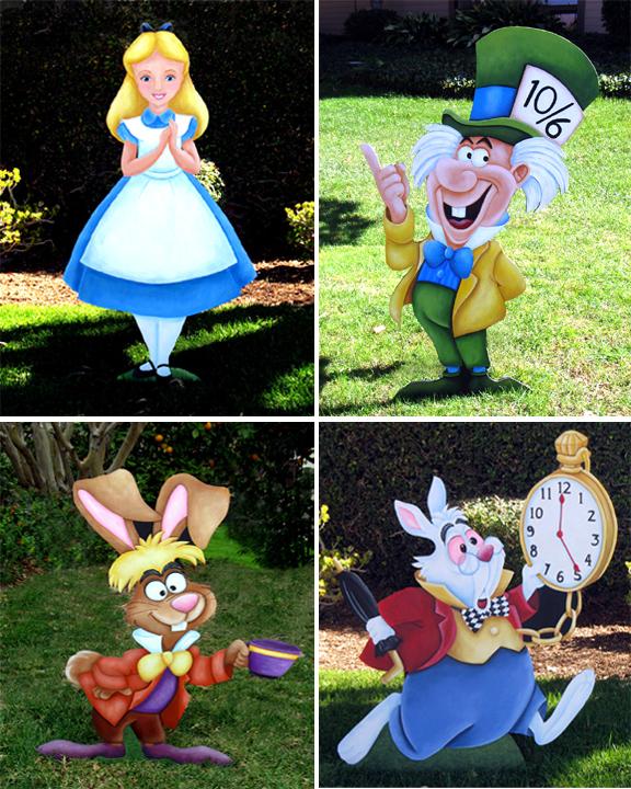 Alice in Wonderland Hand-Painted Props