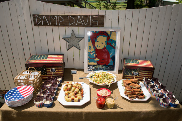 Patriotic Camp Davis Birthday Party - Project Nursery