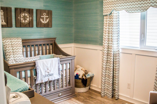 Blue and Gray Coastal-Inspired Nursery - Project Nursery