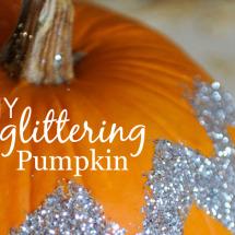 DIY Glittering Pumpkin