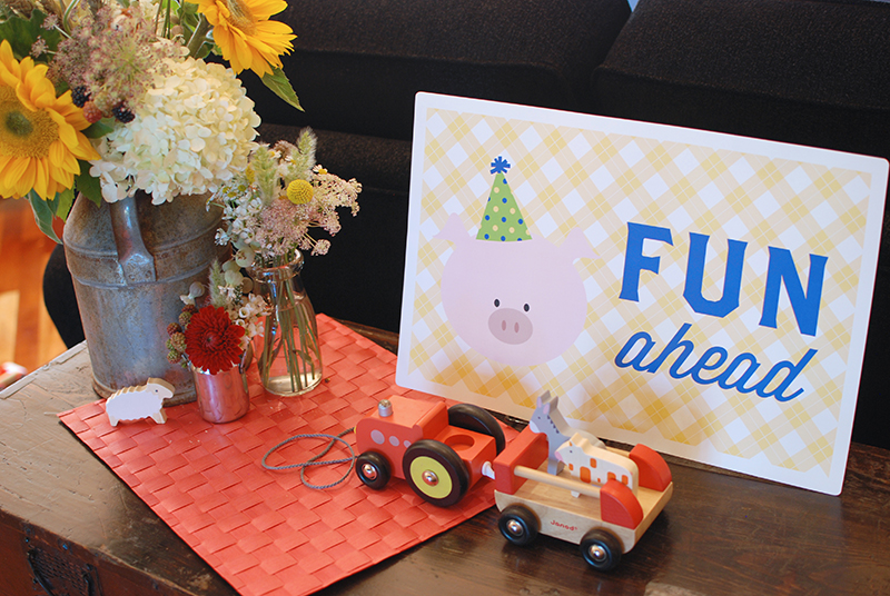 Barnyard Crew Party Signs from Minted