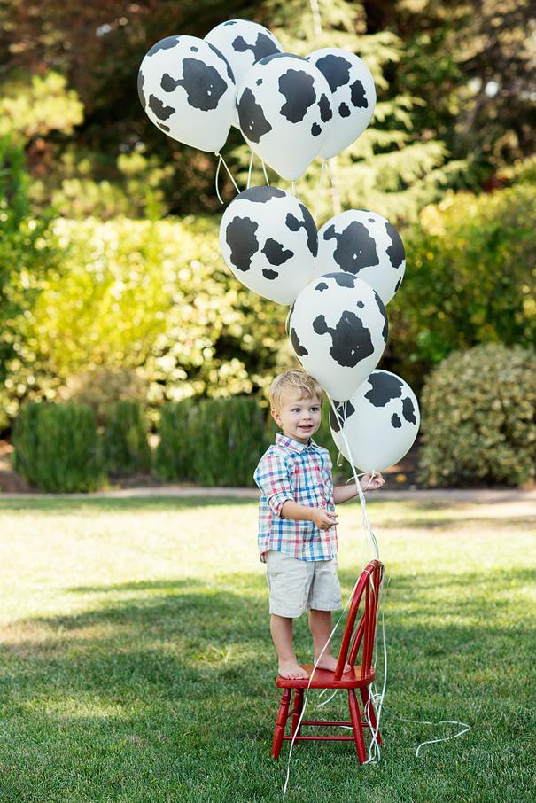 Cow Print Balloons