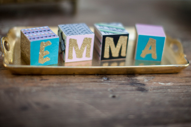 Decorated Wooden Name Blocks