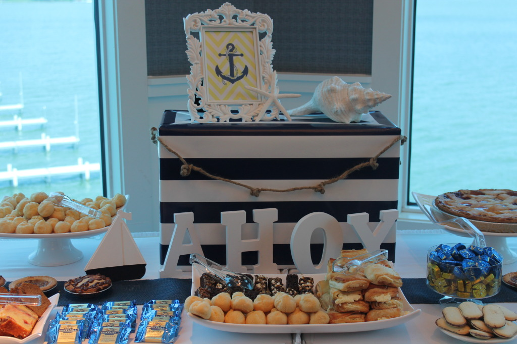 Nautical Themed Baby Shower Dessert Table
