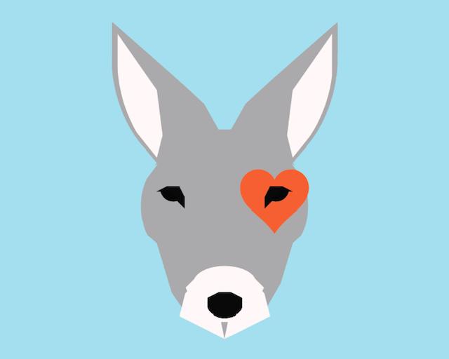 Kangaroo Nursery Art from Little Crown Interiors