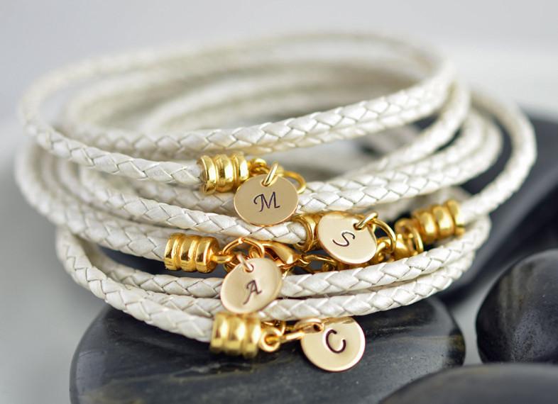 Silver Braided Letter Initial Bracelet - Project Nursery