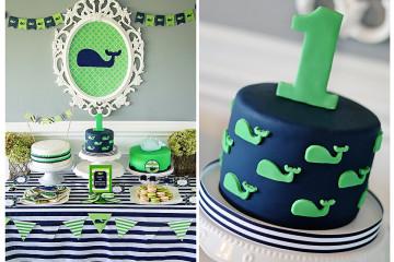 A Preppy Whale 1st Birthday Party