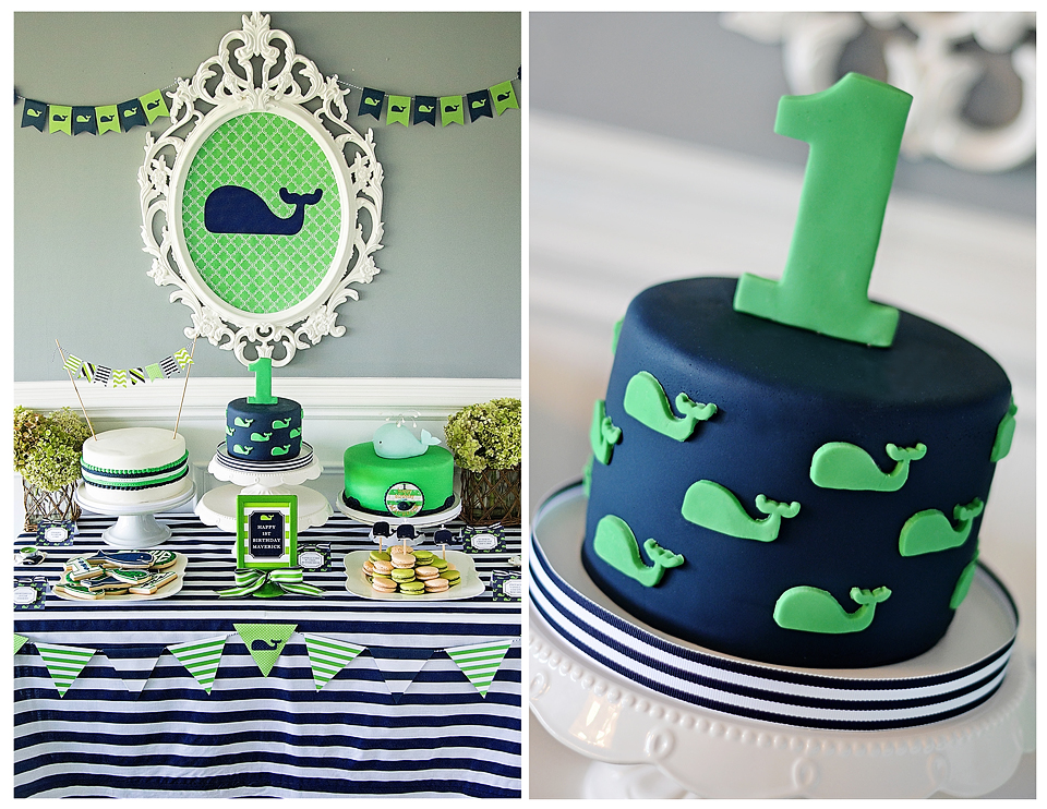 Maverick 39 s 1st birthday a preppy whale party project for 1st birthday party decoration ideas boys