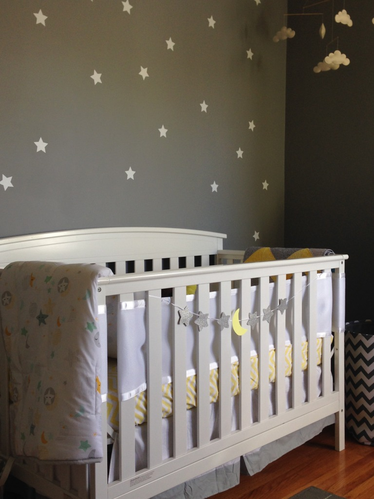 Yellow And Gray Celestial Nursery Project Nursery