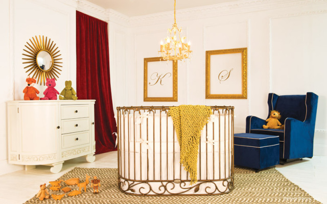 Round Gold Crib by Bratt Decor