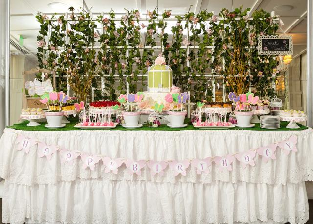 Garden First Birthday Dessert Table - Project Nursery