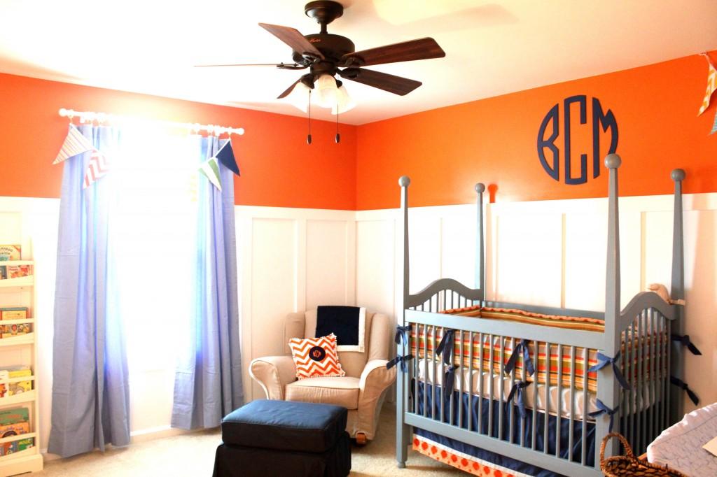 Traditional Orange and Blue Nursery - Project Nursery