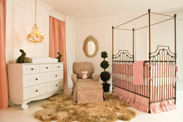 Parisian Crib in Gold from Bratt Decor