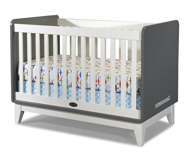 Tivoli Crib Gray and White