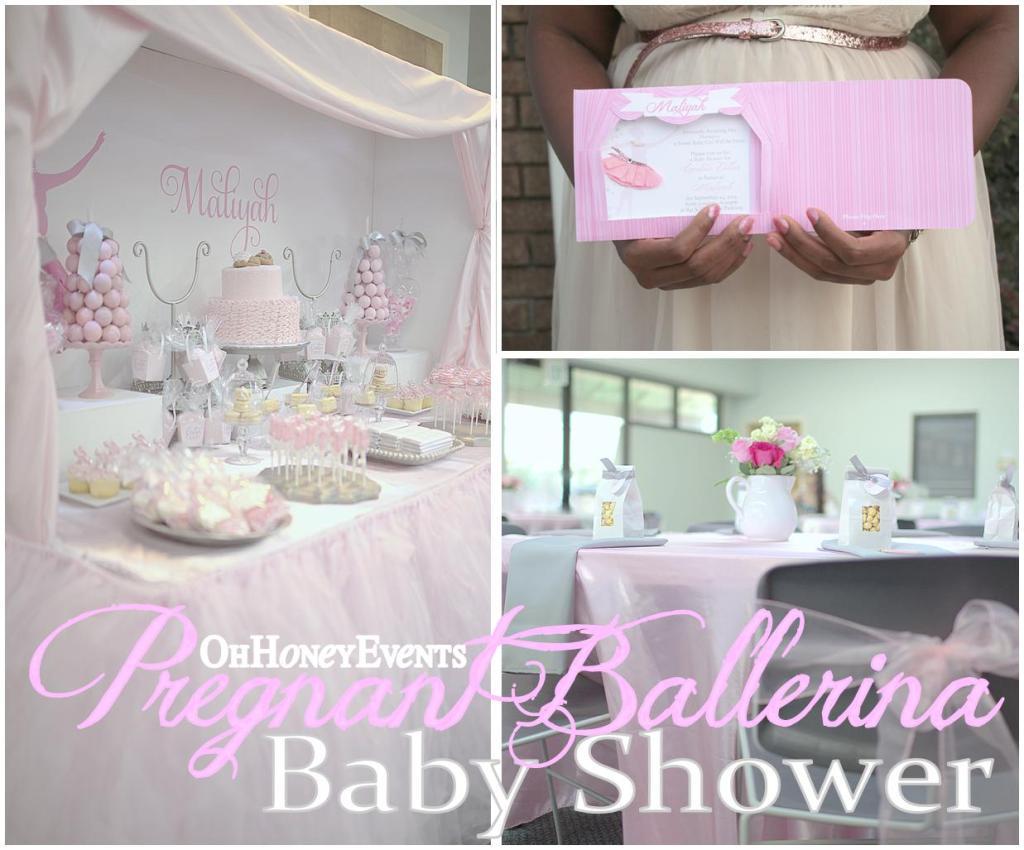 Pregnant Ballerina Baby Shower