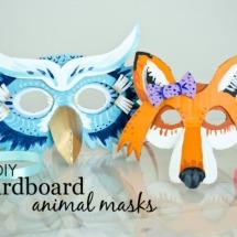 DIY Cardboard Animal Masks