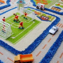 Blue Traffic Play Carpet from Luca and Company