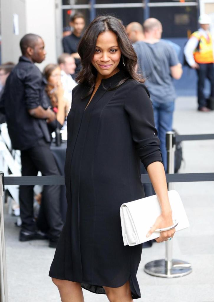Zoe Saldana's Maternity Style