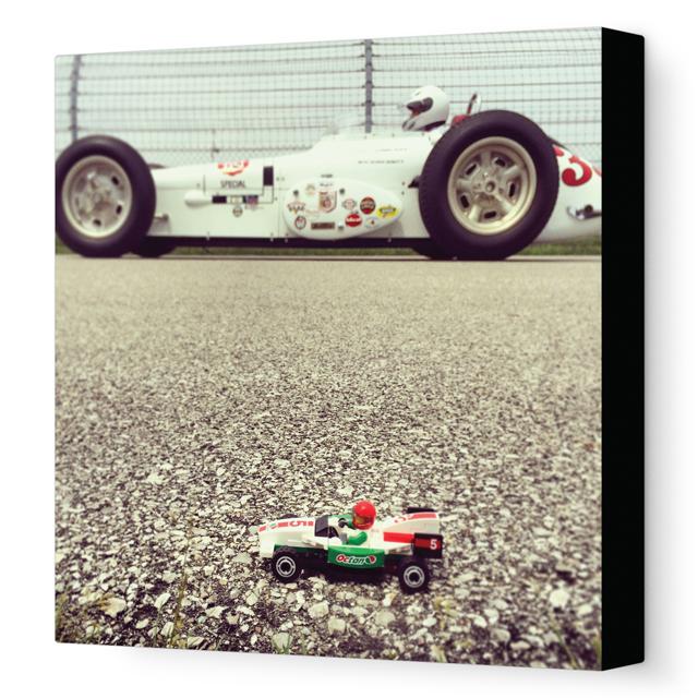 Toy Racecar Canvas Artwork