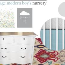 Vintage Modern Boys Nursery