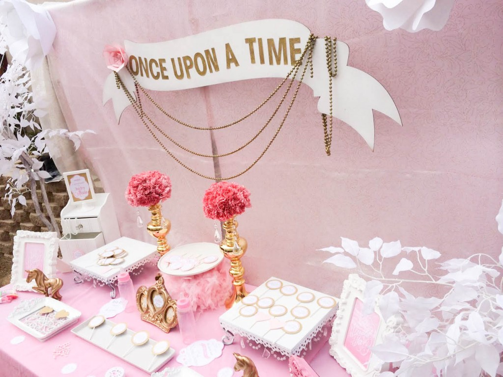 Pink and Gold Once Upon a Time Baby Shower