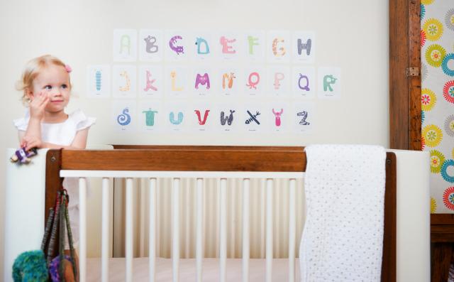 Pop and Lolli Alphabet Fabric Decals