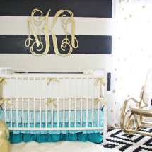 Black White and Gold Nursery