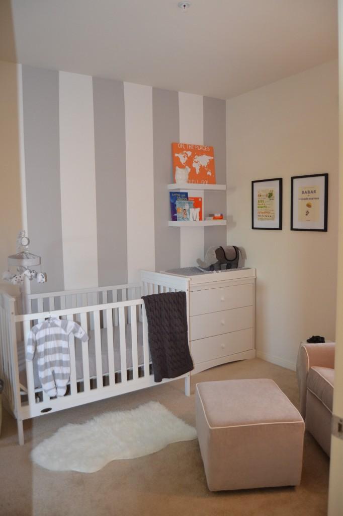 Grey, White and Orange Nursery