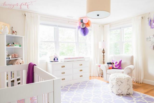 Feminine Lavender and Coral Nursery - Project Nursery