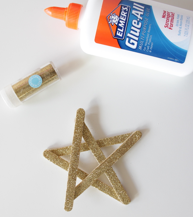 DIY Glitter Christmas Tree Star