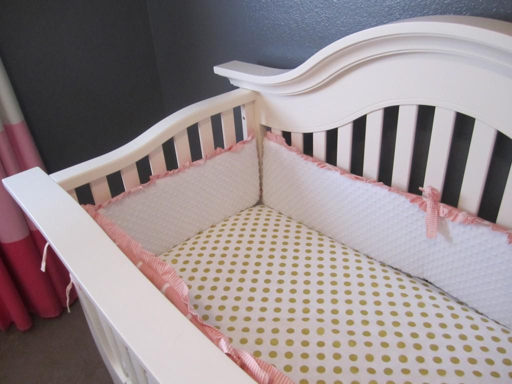 Gold Polka Dot Crib Sheet