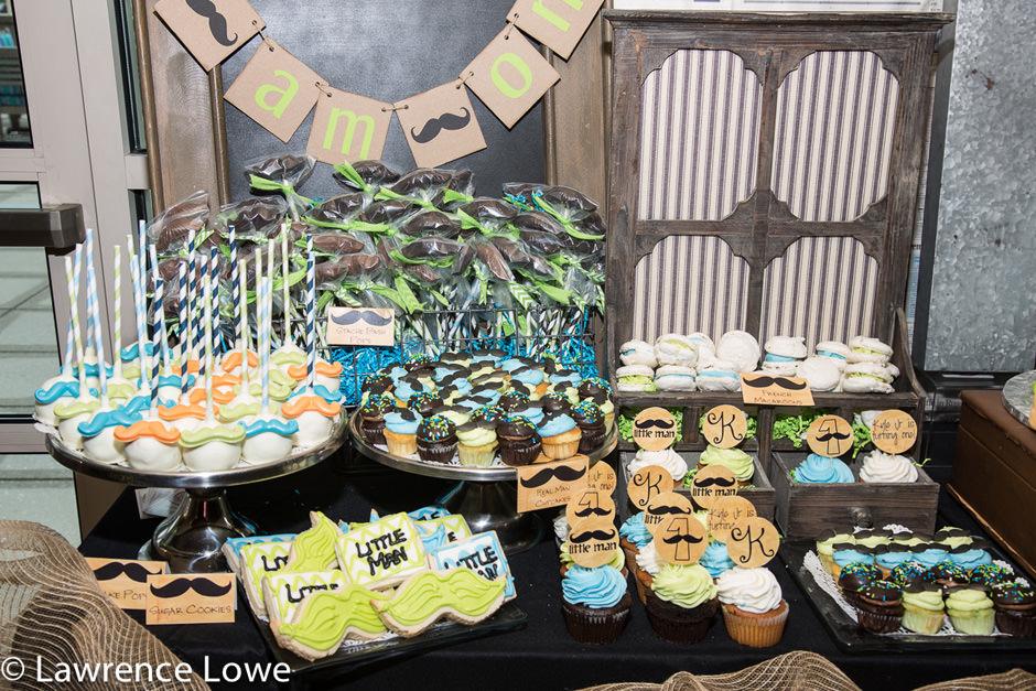 Mustache Themed Birthday Desserts
