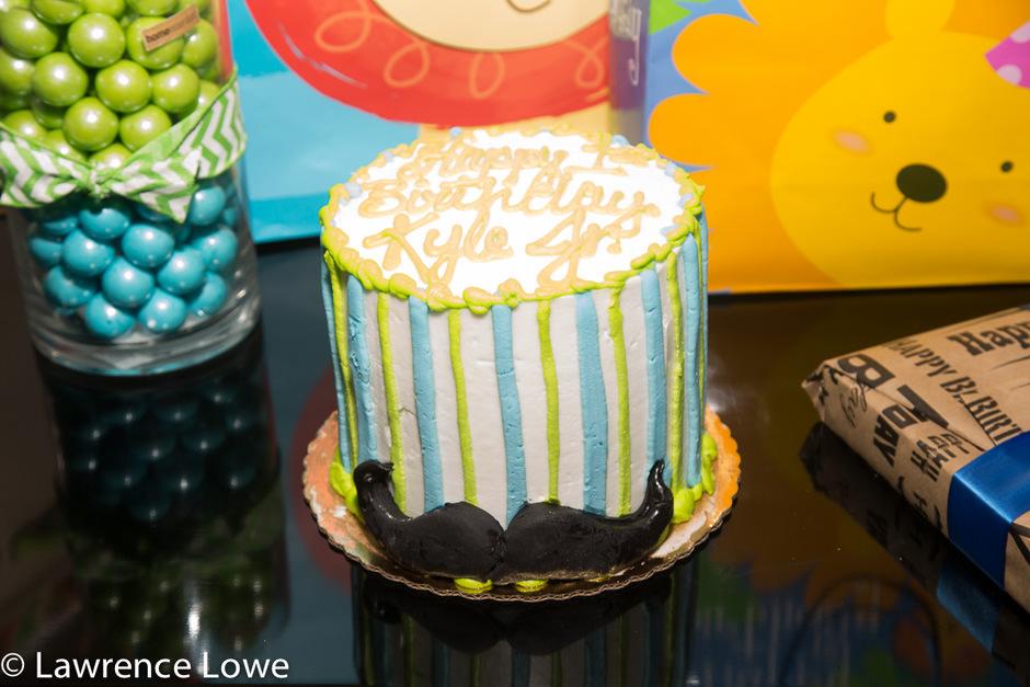 Mustache Themed Smash Birthday Cake