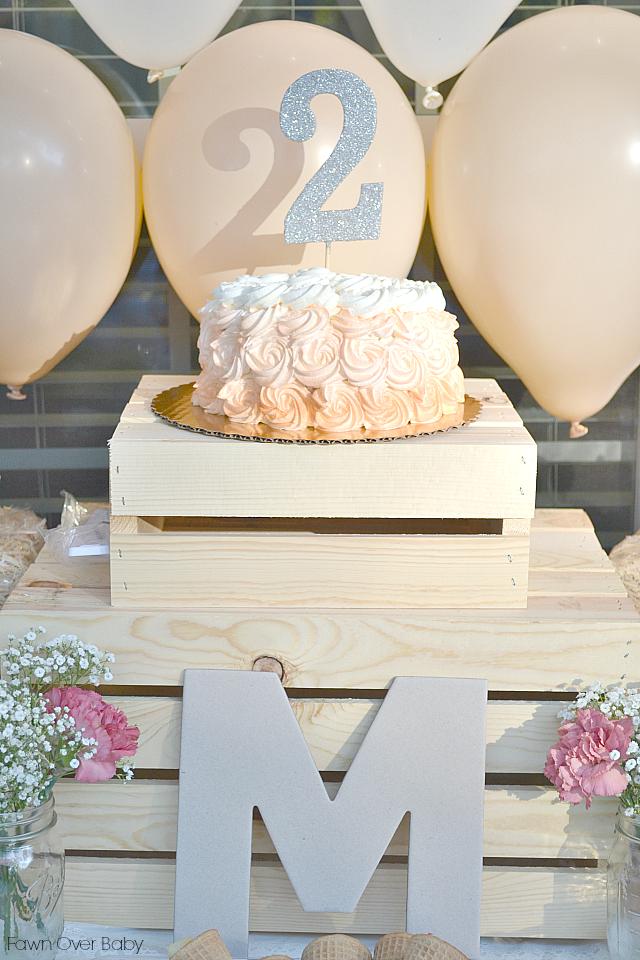 Peach Ombre Birthday Cake