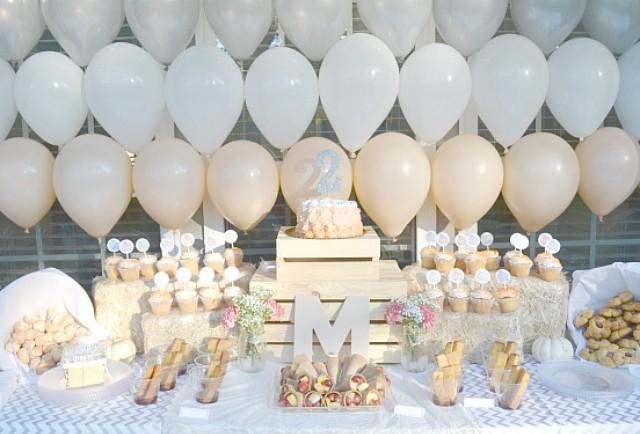 Peach Birthday Party Dessert Table - Project Nursery