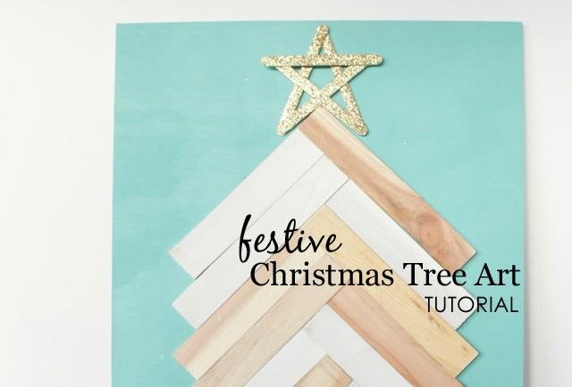 DIY Christmas Tree Art