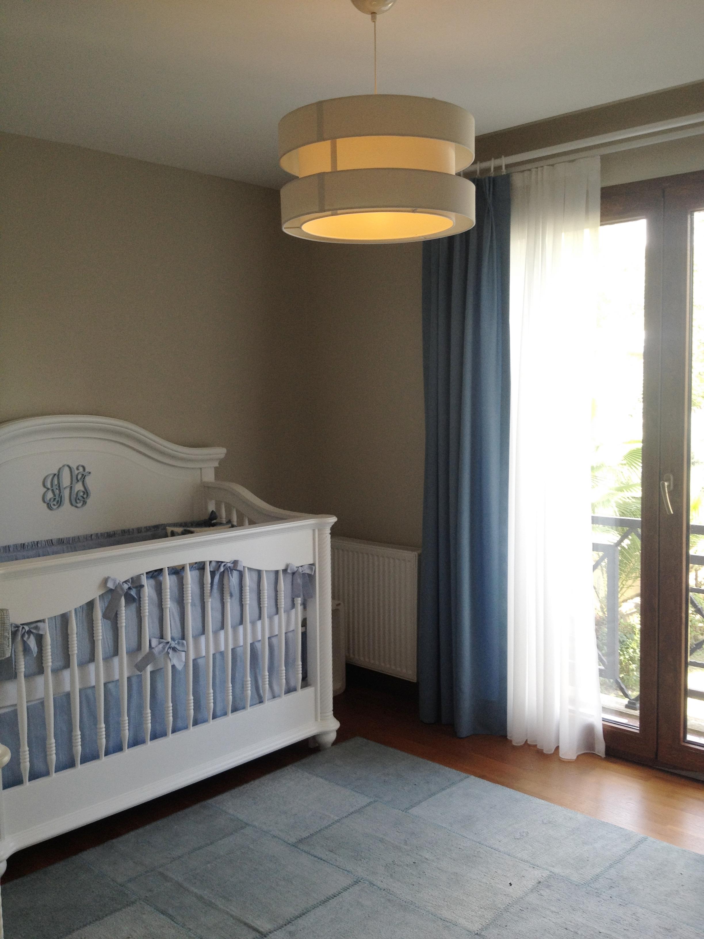 Elegant Blue and White Nursery