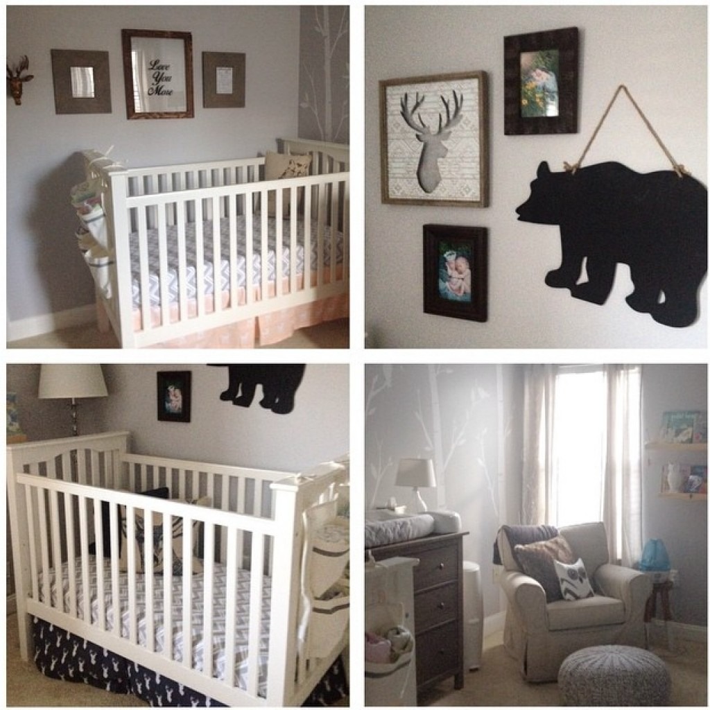 Neutral Woodland Twin Nursery